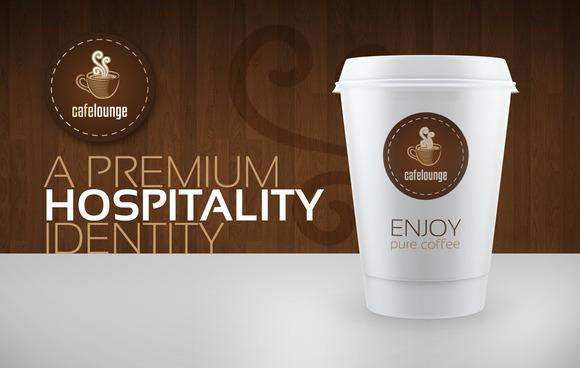 RW Cafe Lounge Hospitality Identity