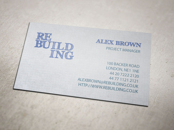 Building Firm Business Card