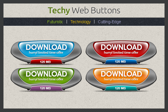 Techy Web Buttons