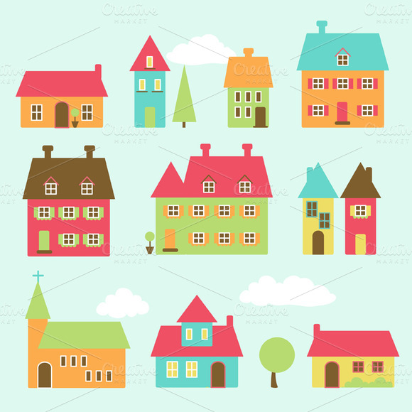 Village Vectors And Clipart