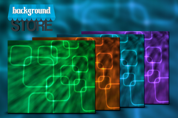 Glowing Squares Abstract Background
