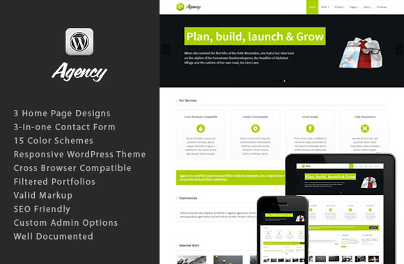 Responsive WordPress Theme Agency