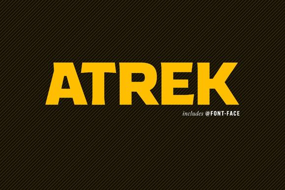 Atrek Extra Bold Display Font