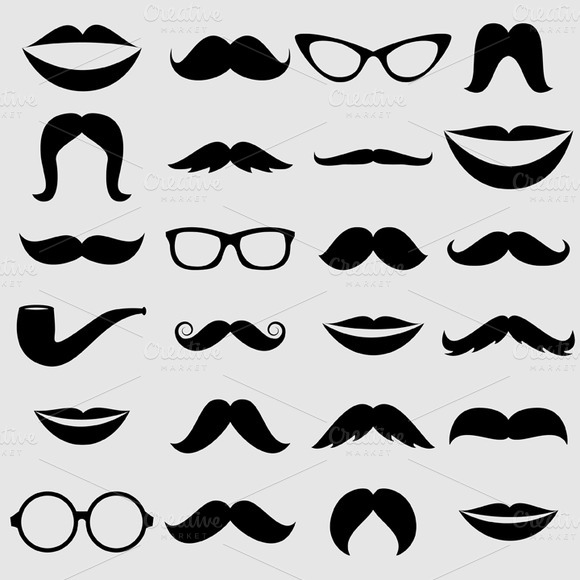 Mustache Lips Vectors And Clipart