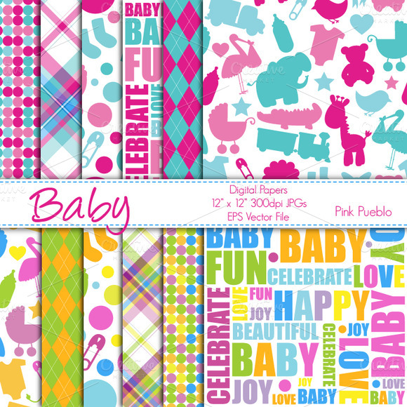 Baby Shower Papers Or Backgrounds