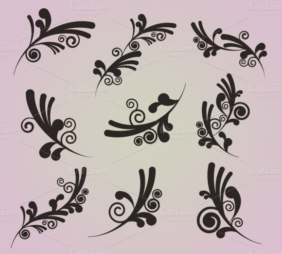 Funky Swirls Clipart And Vectors