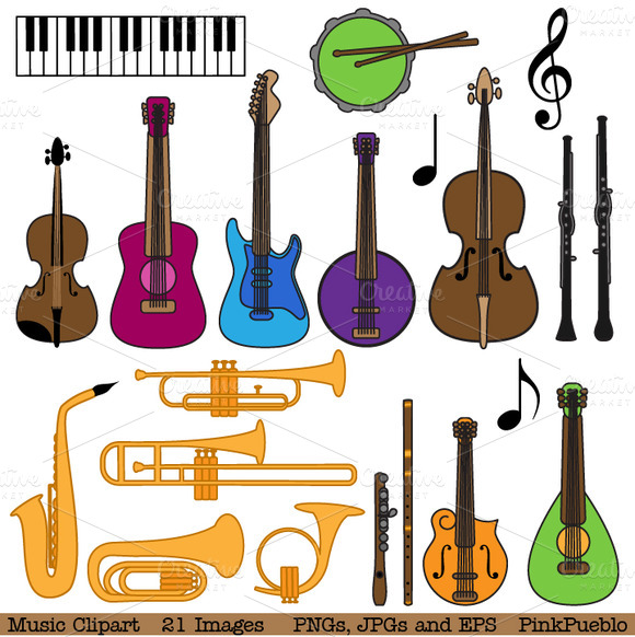 Musical Instrument Clipart Vectors