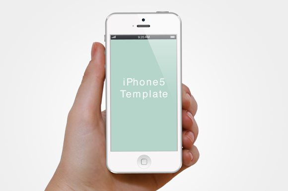Hand With IPhone5 Template