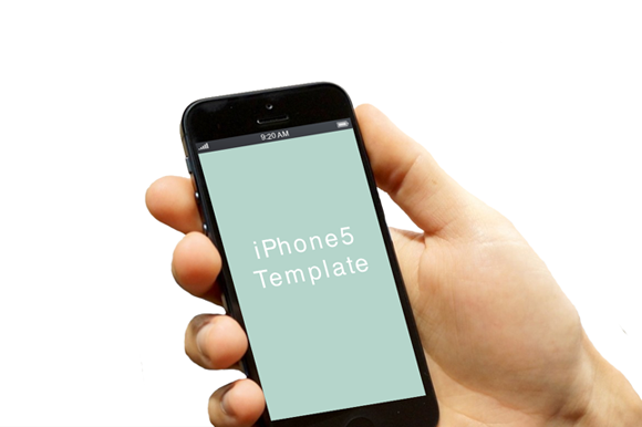 Hand With IPhone5 Template 02