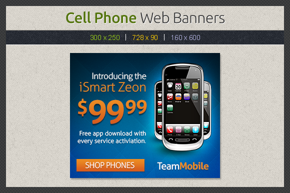 Cell Phone Web Banners Template