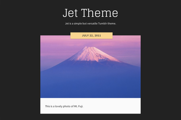 Jet Theme For Tumblr
