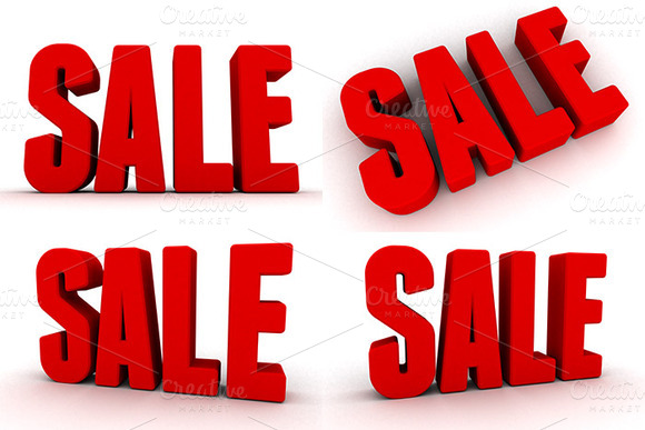3D Sale Renders Pack 1