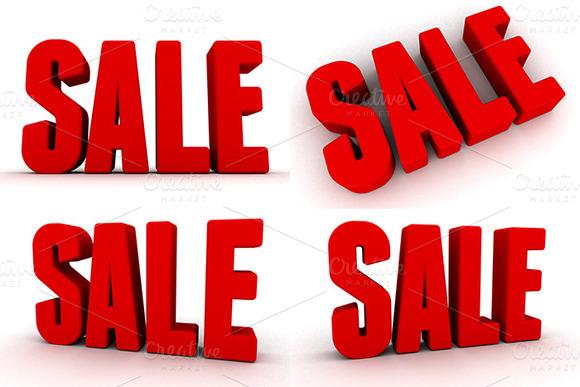 3D Sale Renders Pack 1