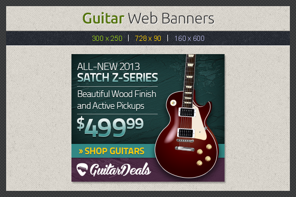 Guitar Web Banners