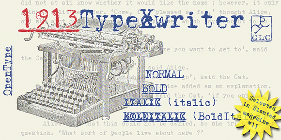 1913 Typewriter OTF