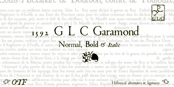 1592 GLC Garamond OTF