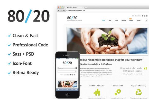 80 20 Clean Responsive Theme