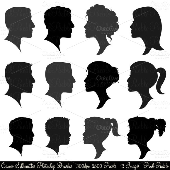 Cameo Silhouettes Photoshop Brushes