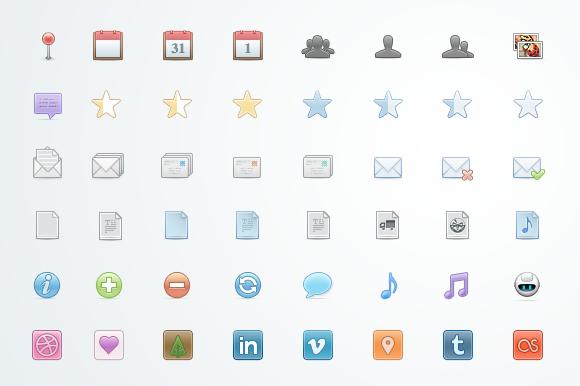Srin 105 Web Icons PSD