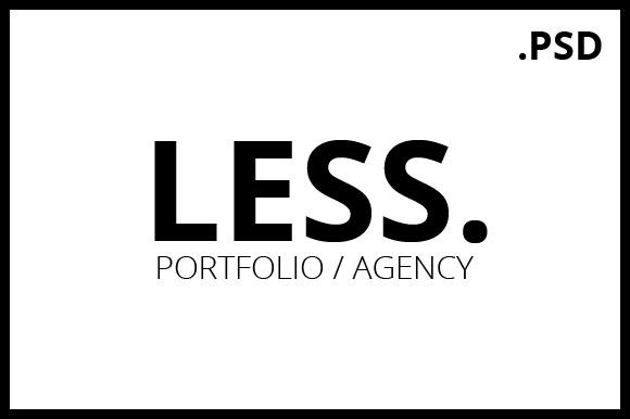 LESS Portfolio Agency PSD Template