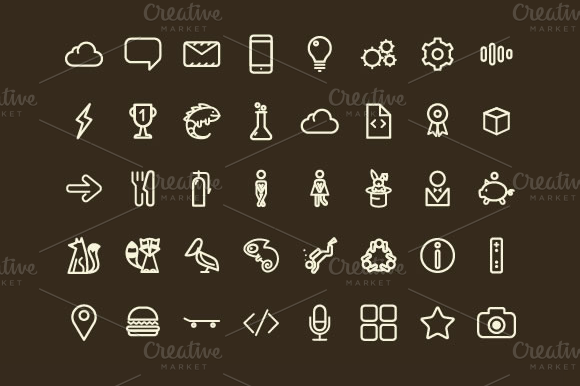 Bizzare Icon Set 103 Vector Icons
