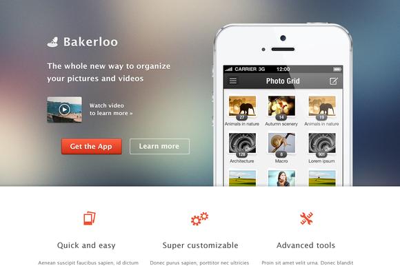 Bakerloo Theme App Landing Page