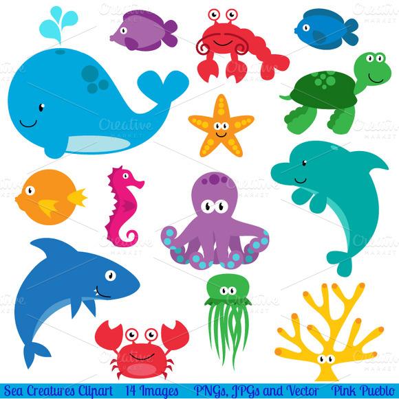Sea Animals Vectors And Clipart