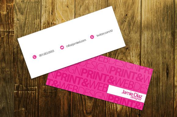 Typo Mini Business Card