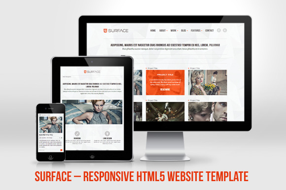 Surface Responsive HTML5 Website