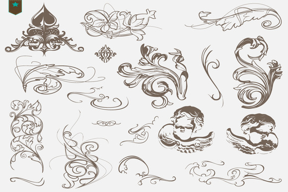 Vector Decorative Swirls Ornaments