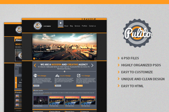 Pulito PSD Site Template