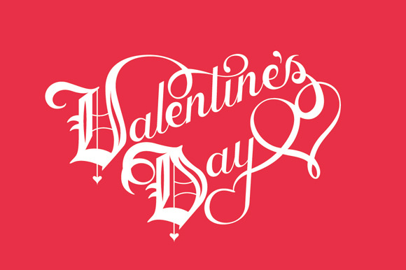 Vector Valentine S Day Lettering