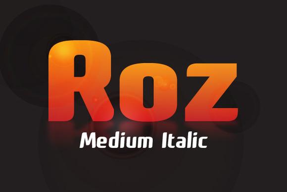 Roz Medium Italic
