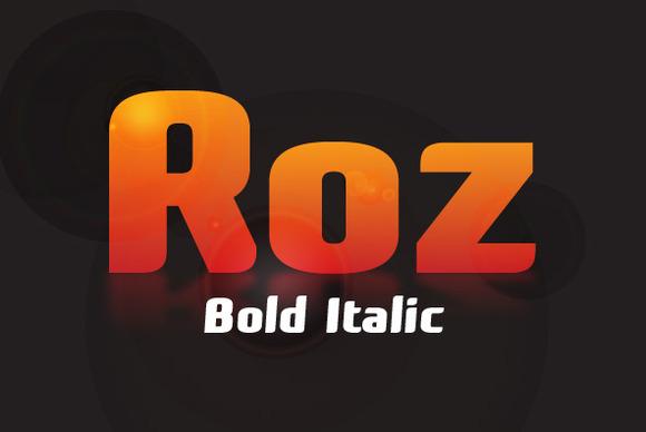 Roz Bold Italic