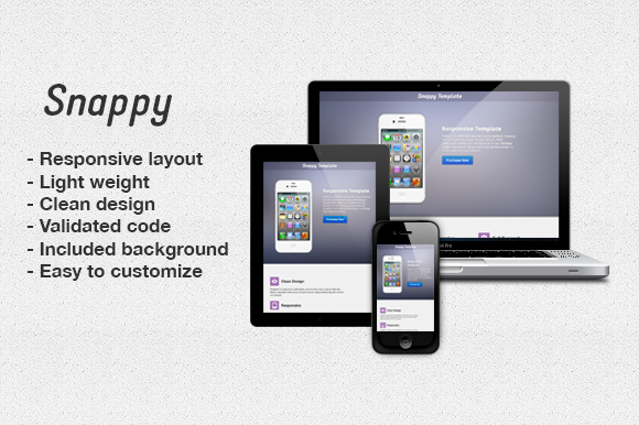 Snappy Responsive Landing Page