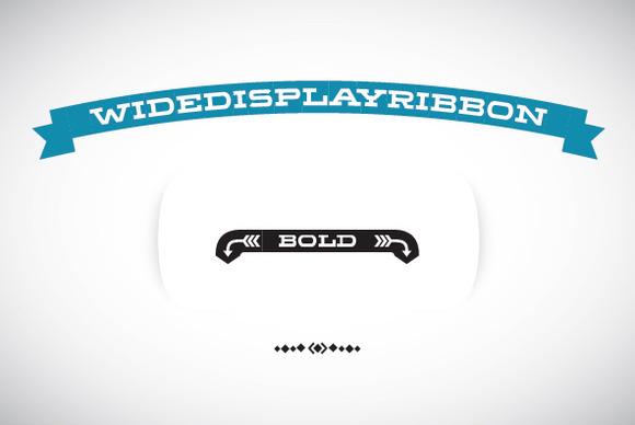 WideDisplayRibbon Bold