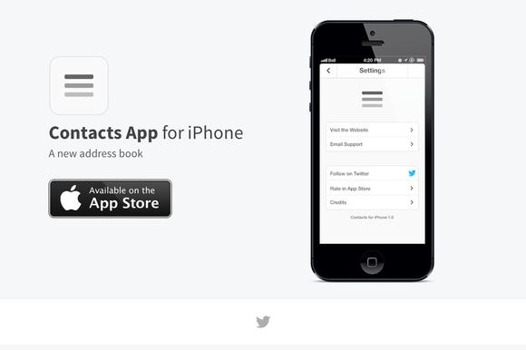 App Website Template HTML CSS PSD