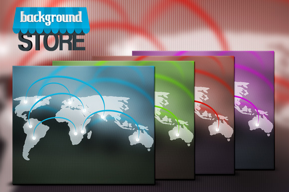 World Network Background