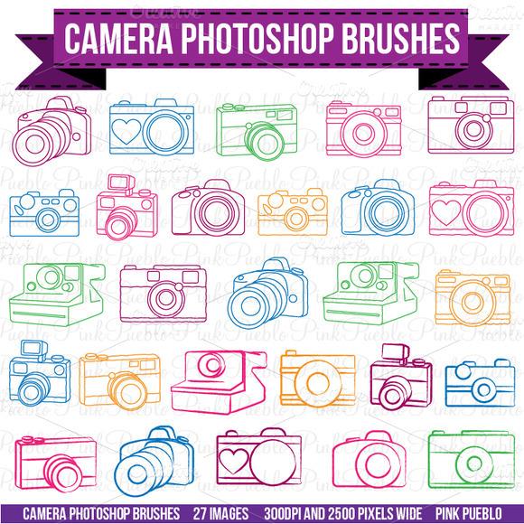 Camera Photoshop Brushes