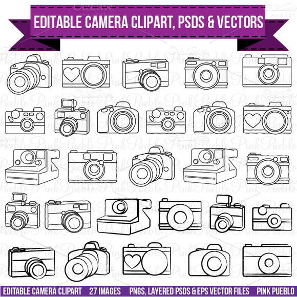 Camera Clipart PSDs And Vectors