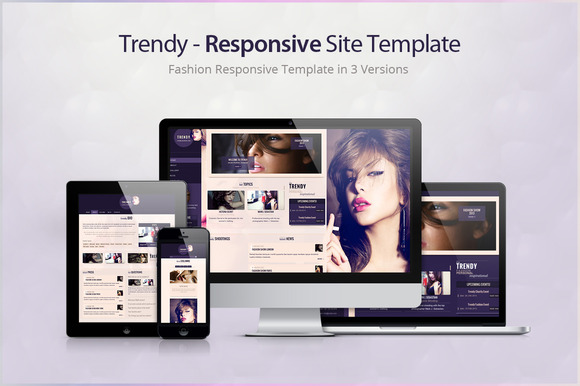 Trendy Responsive Site Template
