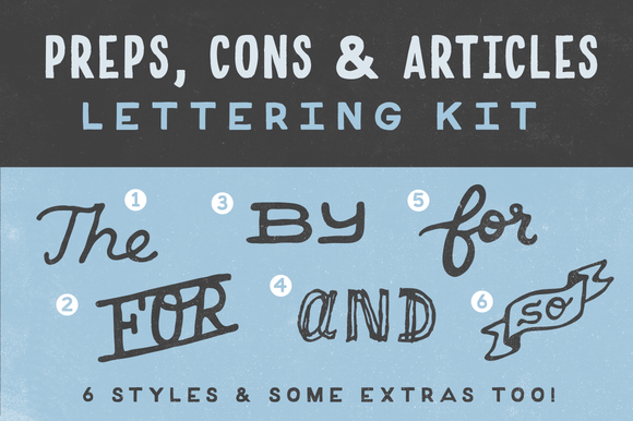 Preps Cons Articles Lettering