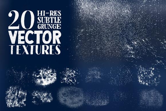 Hi-Res Subtle Grunge Vector Textures