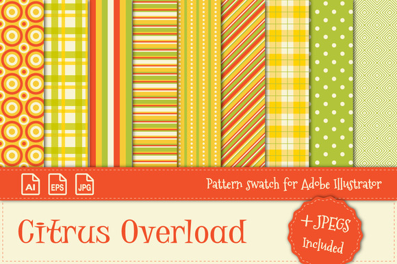 Pattern Swatch Citrus Overload