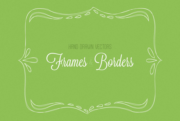 Hand Drawn Vector Borders And Frames