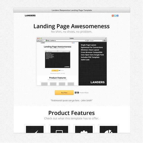 Landers Landing Page Template