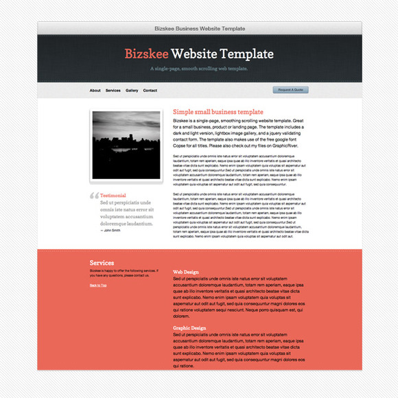 Bizskee Business Web Template