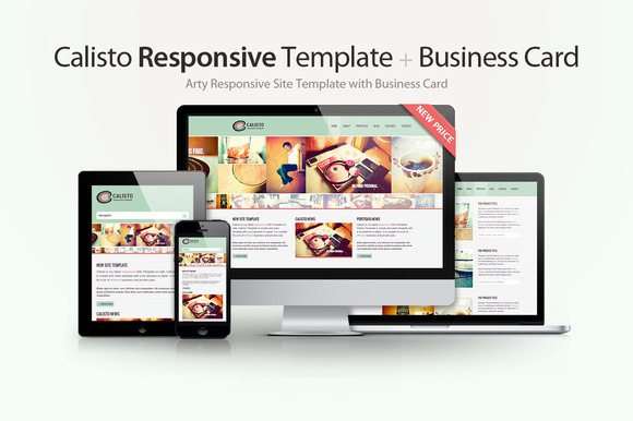 Calisto Responsive Template Card