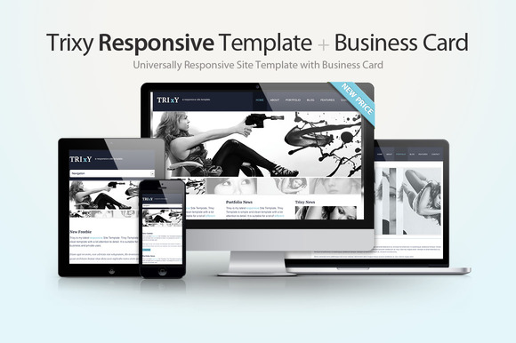 Trixy Responsive Template Card