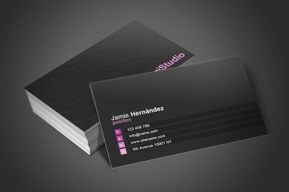Black Business Card 2